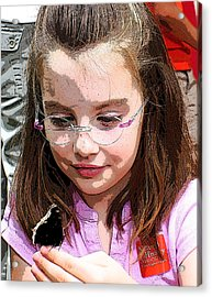 Children Series Acrylic Print by Ginger Geftakys