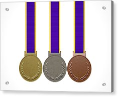 First Second And Third Medals Acrylic Print