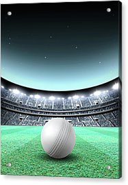 Floodlit Stadium Night Acrylic Print by Allan Swart