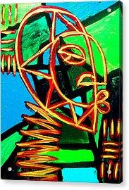 From The Hill And Beyond Acrylic Print by Malik Seneferu