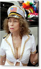Gay Pride Parade 6 26 11 Female Performer Acrylic Print by Robert Ullmann