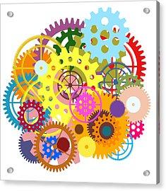 Gears Wheels Design  Acrylic Print by Setsiri Silapasuwanchai