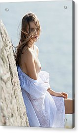 Girl In White Dress Acrylic Print