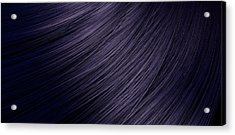 Hair Blowing Closeup Acrylic Print
