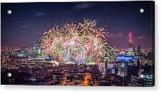 Happy New Year London Acrylic Print