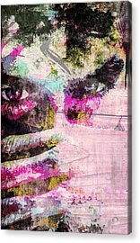Acrylic Print featuring the mixed media Ian Somerhalder by Svelby Art
