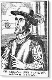 Juan Ponce De Leon Acrylic Print by Granger