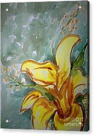 Love Flowers Acrylic Print by Baljit Chadha