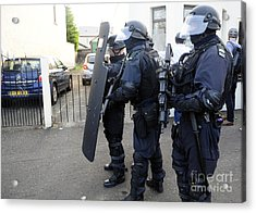 Loyalist Protesters Attack Police Lines Acrylic Print