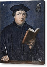 Martin Luther (1483-1546) Acrylic Print by Granger
