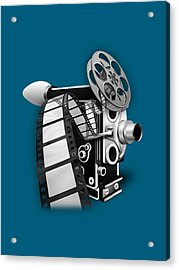 Movie Room Decor Collection Acrylic Print