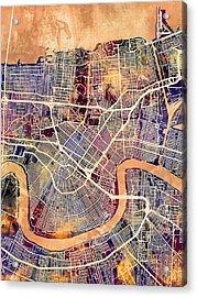 New Orleans Street Map Acrylic Print