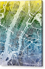 New York City Street Map Acrylic Print