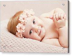 Newborn Fine Portrait Acrylic Print
