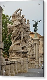 Ponte Vittorio Emanuele II Sculpture Acrylic Print by JAMART Photography
