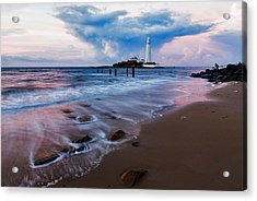 Saint Mary's Lighthouse At Whitley Bay Acrylic Print by Ian Middleton