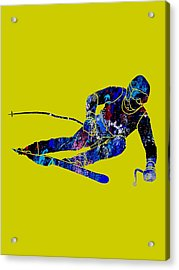 Skiing Collection Acrylic Print by Marvin Blaine