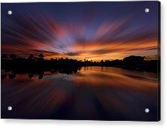 Sunrise At Naples, Florida Acrylic Print