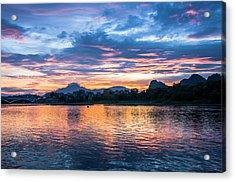 Sunrise Scenery In The Morning Acrylic Print