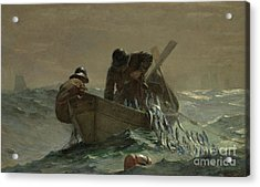 The Herring Net Acrylic Print by Winslow Homer