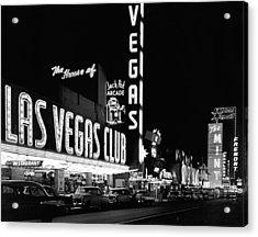 The Las Vegas Strip Acrylic Print by Underwood Archives