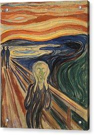 The Scream Acrylic Print by Edvard Munch