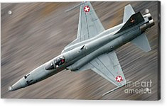 Thrust Acrylic Print by Angel  Tarantella