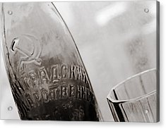 Acrylic Print featuring the photograph Vintage Beer Bottle Ussr by Andrey  Godyaykin