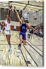 Acrylic Print featuring the painting 70's Layup by Kevin Daly