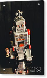70s Mechanical Android Bot  Acrylic Print