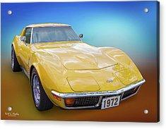 72 Corvette Acrylic Print