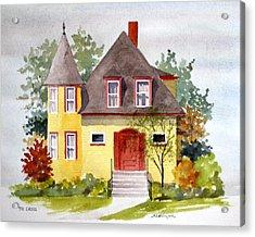 721 Grove Ave Acrylic Print by William Renzulli