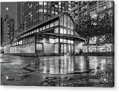 72nd Street Subway Station Bw Acrylic Print