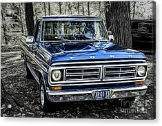 Acrylic Print featuring the photograph 73 Ford Pickup by Brad Allen Fine Art