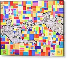 76 Aka The Gift Acrylic Print by Jeremy Aiyadurai