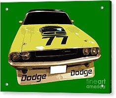 77 Yellow Dodge Acrylic Print