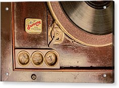 Acrylic Print featuring the photograph 78 Rpm And Accessories by Gary Slawsky