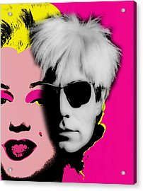Andy Warhol Collection Acrylic Print by Marvin Blaine