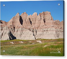 Badlands National Park South Dakota Acrylic Print by Louise Heusinkveld