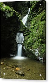 Beautiful Flowing Waterfall With Magical Fairytale Feel In Lush  Acrylic Print