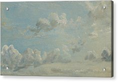 British Title Cloud Study Acrylic Print by John Constable