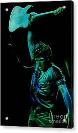 Bruce Springsteen Acrylic Print by Marvin Blaine
