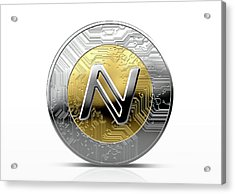 Cryptocurrency Physical Coin Acrylic Print