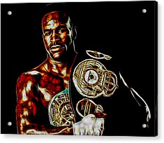 Evander Holyfield Collection Acrylic Print by Marvin Blaine