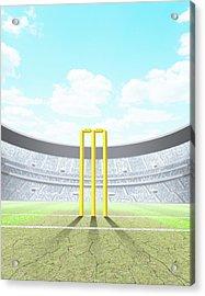Floodlit Stadium Day Acrylic Print by Allan Swart