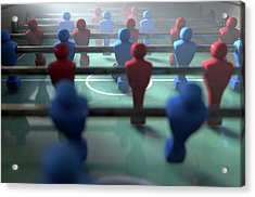 Foosball Players Acrylic Print
