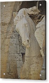 Horse In The Fountain  Acrylic Print by JAMART Photography