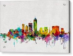 Indianapolis Indiana Skyline Acrylic Print by Michael Tompsett