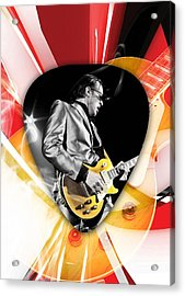 Joe Bonamassa Blues Guitarist Art Acrylic Print by Marvin Blaine
