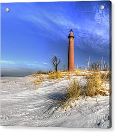 Little Sable Lighthouse Acrylic Print by Twenty Two North Photography